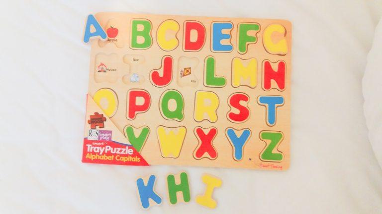 Alphabet Puzzle Tray